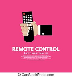 Hand Holding A Remote Control.