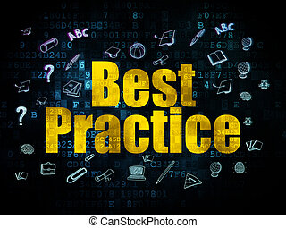 Education concept: Best Practice on Digital background