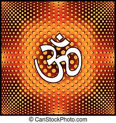 Aum Om The Holy Motif Vector Art
