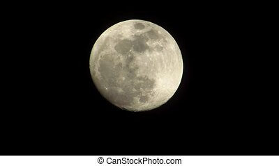 Full moon night on a black background