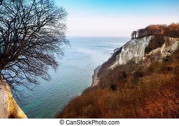 Rugen island landscape - White chalk cliff on Jasmund...
