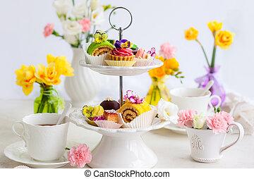tè, Torte, pomeriggio