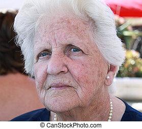 beautiful elderly woman - portrait of a beautiful elderly...