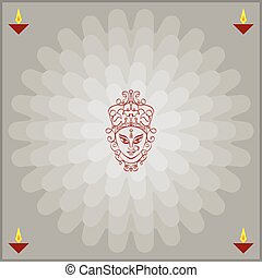 Durga Goddess of Power Vector Art