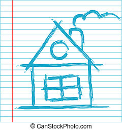 Hand drawing house illustration
