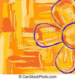 Flower, simple sketch illustration