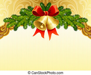 christmas background - gold christmas background