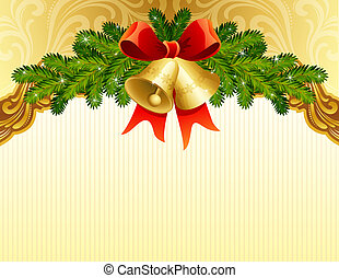 christmas background - vector illustrations - gold christmas...