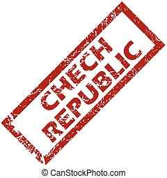 New Chech Republic rubber stamp - New Chech Republic grunge...