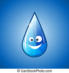 Happy water drop