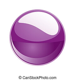 purple sphere  - 3d purple sphere