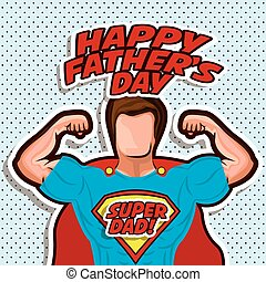 Fathers day design over pointed background, vector...