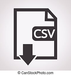 File type CSV icon