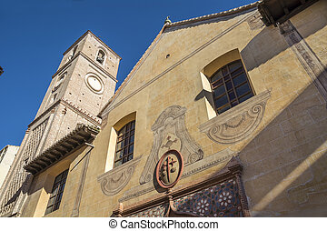 Iglesia de Santiago Apostol - Church in Malaga Spain...