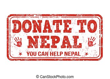 Donate to Nepal stamp - Donate to Nepal grunge rubber stamp...