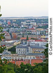 Brno overview. - Cityscape of the city of Brno, Czech...