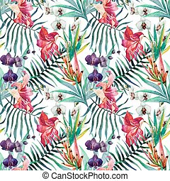 Tropical pattern - Beautiful vector pattern with nice...