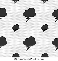 storm icon sign. Seamless pattern with geometric texture....