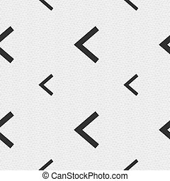 Arrow left, Way out icon sign Seamless pattern with...