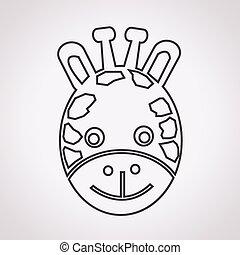 Giraffe Face Icon