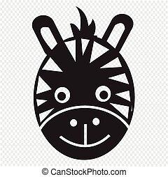 zebra face vector clip art eps images 666 zebra face