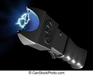 Stun Gun - Original illustration of a generic stun gun on...
