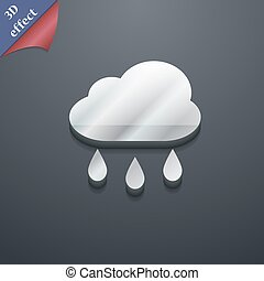 Weather Rain icon symbol. 3D style. Trendy, modern design with space for your text Vector