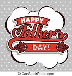 Fathers day design over purple background, vector...