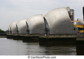 Thames flood barrier - The Thames flood barrier
