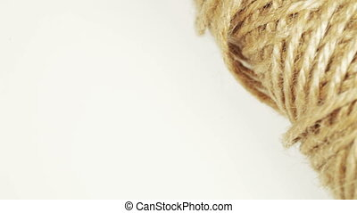 Flax hemp rope - On rotating table is flax hemp rope