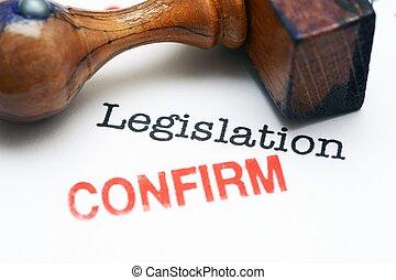 legislación, -, confirmar,