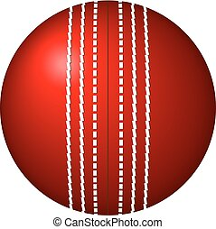 Cricket Ball Vector Art
