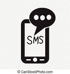Mobile sms text message mail icon
