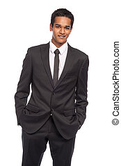 Smart Young Man Wearing Black Suite. - Teenager in...