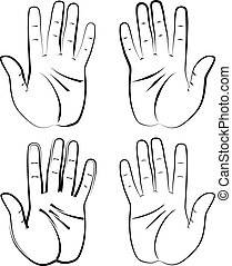 Human Hand Design Vector Art