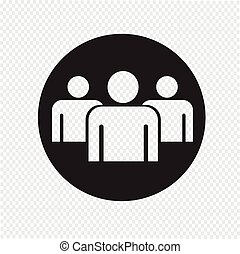 Group people sign icon