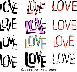 Tattoo Love Word Vector Art