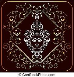 Durga Goddess of Power Vector Art
