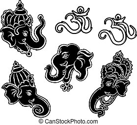 Ganesha Collection Set Vector Art