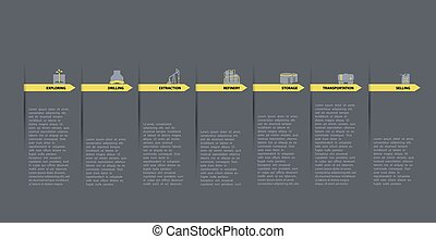 oil and gas industry infographic vector illustration.