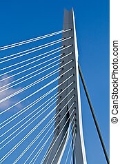Erasmus Bridge. Pilons - Erasmus Bridge details. Pylons and...