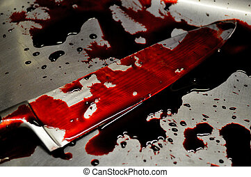 Bloody knife - Illustration photo - Bloody knife, crime...