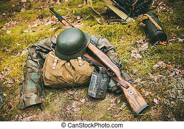 suelo, Alemán,  II, mundo, militar, munición, guerra