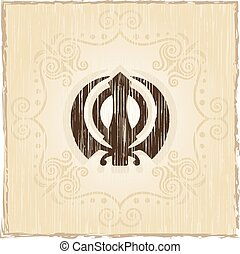 Ek Onkar, Khanda The Holy Motif Vector Art