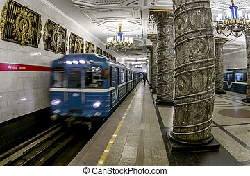 March 22, 2015. St. Petersburg, Russia. St. Petersburg Metro...