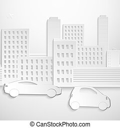 Abstract 3D Paper Buildings