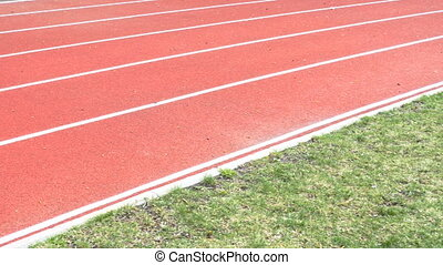 Running track with lanes