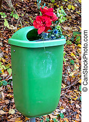 flowers in trash - flowers in the trash, icon give rejection...