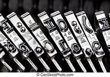 type a typewriter - type an old typewriter. symbolic photo...
