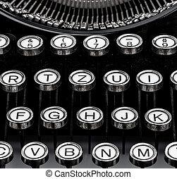 keys on a typewriter - an old typewriter keyboard symbolic...
